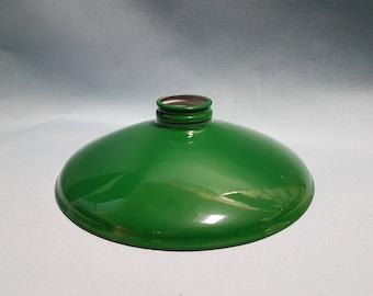 Vintage Green Enamel Light Shade, Green Industrial Light Shade