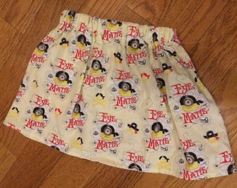 Girls Pirate Minion Skirt size 6
