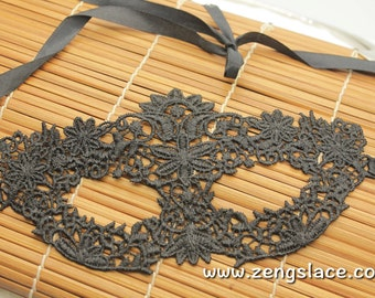 Masquerade Mask Lace, Party Mask, Black Venice Lace Mask, Eye Mask, Gothic mask, Christmas Gift, Carnival Mask, Venetian Mask, LM-18-BL