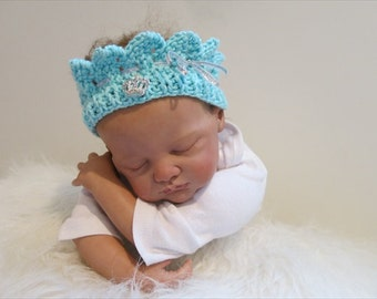 READY Baby Girl Princess Crown, Baby Knit Crown, Baby Crown, Newborn Crown, Knit Yarn Baby Crown, Tiara Baby Crown, Baby Crown Girl, Prop
