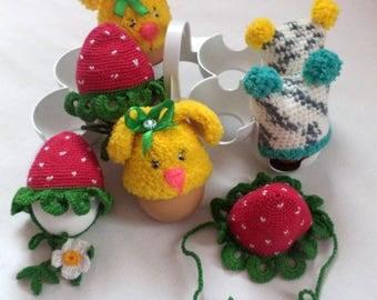 Beanies for Easter eggs gift decor Hats for easter eggs gift decor SOUVENIR ON EASTER