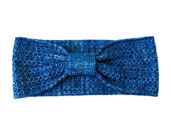 Cobalt blue knit headband, handmade turban, hair accessories, knit earwarmer, gift