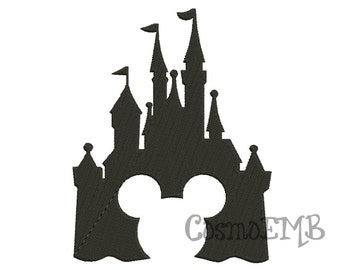 11 Size Disney Castle2  Embroidery design Machine Embroidery - Digital INSTANT DOWNLOAD