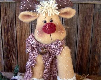 """Rudy Reindeer Pattern is a 21"""" Sitting Reindeer"""