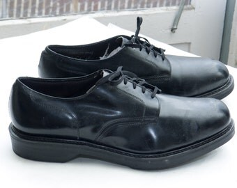 HY-TEST Men's Postman Oxford, sz 10.5 E (fits 10) -- Made in USA --> Black Leather