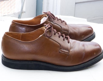 RED WING #9401 Men's Postman Oxford, sz 11 EE (fits 11 E) -- Union Made in U.S.A. --> Brown Leather