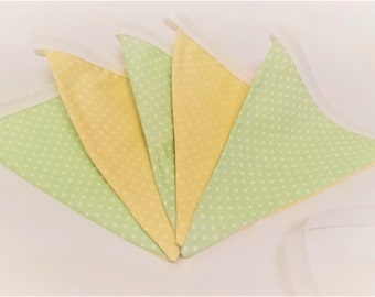 Pastel Yellow and Green Polka Dot Bunting