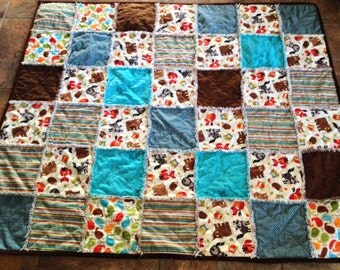 Homemade Child's quilt or Lap Quilt
