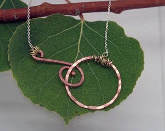 Copper Necklace, ENCOURAGE, Colorado Copper, Mixed Metals