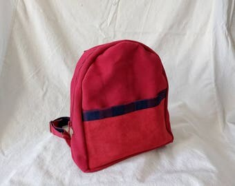 Yoona, small leather backpack women, korean style backpack, red backpack, leather bag, womens bag, student bag, handmade bag by PingMimo