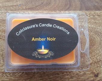 Amber Noir soy melt///100% soy tart