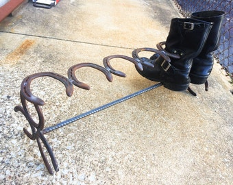 Boot Rack made of Used/Recycled Horseshoes