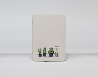 "Notebook A6 blank pages ""Les Cactus"""