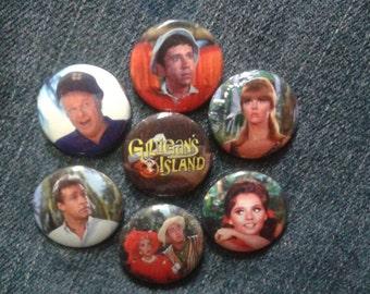 "Gilligan's Island button set 1"" pinback"