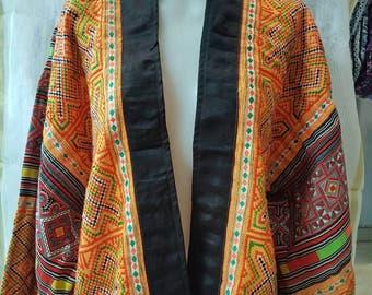 Kimono with embroidery needlework, kimono boho