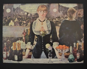 Manet's 'The Bar at the Folies-Bergéres' Vintage Print