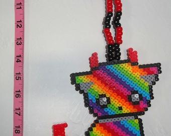 Rainbow Devil Kitty Kandi Necklace