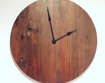Large Black Walnut Handmade Wall Clock