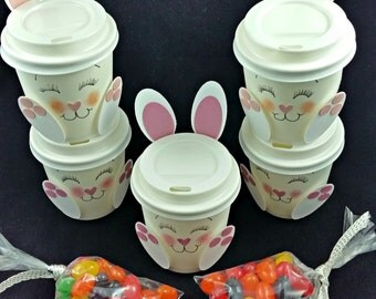 Bunny Mini Coffee Cups/Candy/Easter Candy