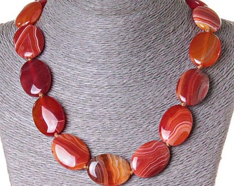 Necklace сarnelian  Beads carnelian  Beads stone  Necklace from stone  Beads natural stone  Carnelian gemstone  Carnelian jewelry