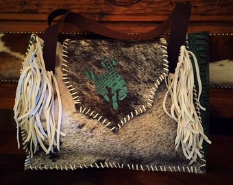 western cowboy diaper bag or large purse