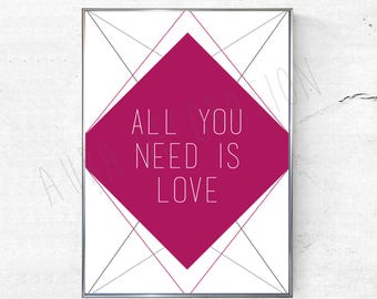 Poster - decoration - All you need is love