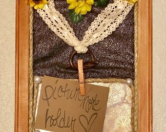 Rustic Style Decorative Picture/Note Holder