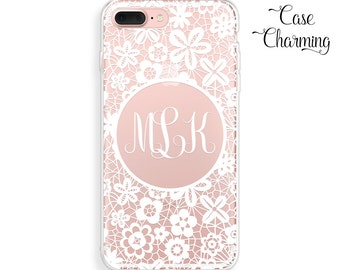 Monogram Phone Case iPhone 7 Plus Case Monogram iPhone 7 Case iPhone 6 Case iPhone 6s Case iPhone 6 Plus Case iPhone 6s Plus Case Clear Case
