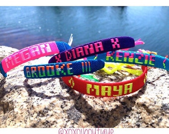 Personalized Name Friendship Bracelets