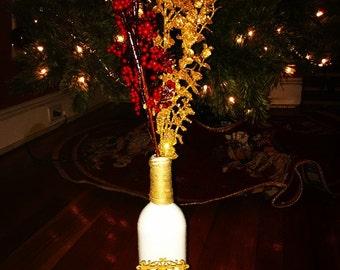 Christmas Wine Bottle Decoration