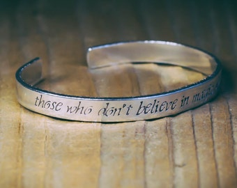 Those Who Don't Believe In Magic Will Never Find It / Literary Gift / Literary Jewerly / Inspirational Quote Jewelry / Roald Dahl