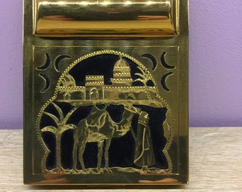 Engraved compact 1950s North Africa
