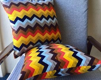 Multicoloured Chevron Corduroy Cushion Cover 15.75x15.75inch 40x40cm Cushion Throw Cover