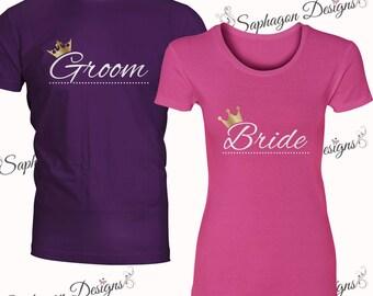 Husband/Wife, Groom/Bride & I'm The Husband/Wife T-Shirt Sets