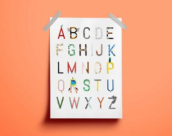 Alphabet Print • ABC • Alphabet Poster • Alphabet Letters
