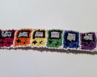 Rainbow Gameboy Friendship Bracelet