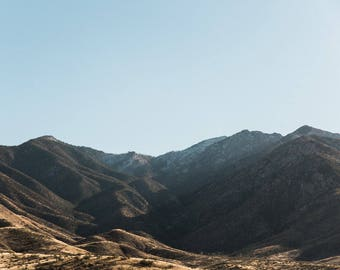 Mountains, Desert Print, Southwest decor, Rolling Hills, Minimalist Art, Desert landscape, Fine Art, Tucson, Arizona