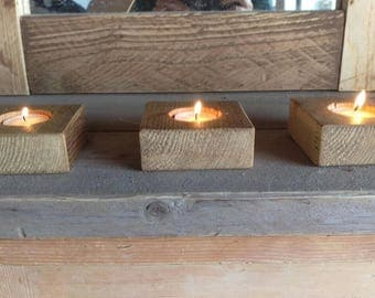 Bespoke tea light holders