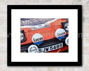 Triumph TR7 V8 Group 4 Rally Car, Photo / Print, Wall Art, Tony Pond, Per Eklund, Simo Lampinen, Jean Luc Therier
