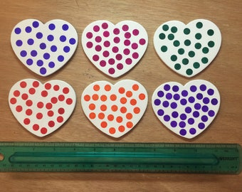 Heart Magnets - Set of 6