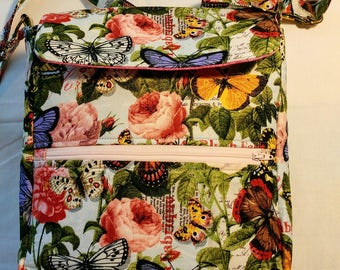 Roses and Butterflies Crossbody Bag - Item: 1164-101