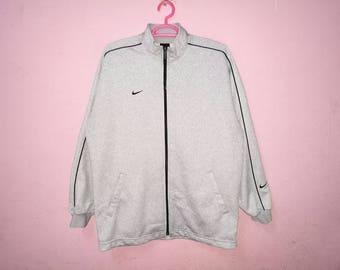 Rare!! Nike Small Logo Embroidery Zipper Jacket Sweater