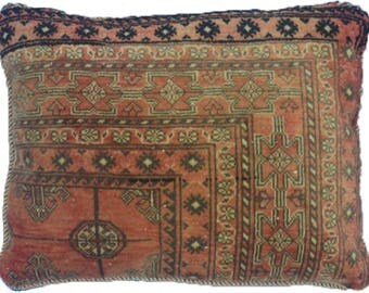 Large Vintage Persian Turkmen Cushion 69x46cm