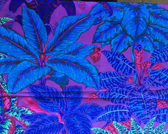 Quilting Cotton Philip Jacobs Rare OOP Miami purples and blues.  Large Print. 1 yard available