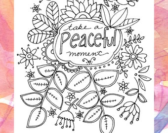 Coloring Pages | Adult Coloring Pages | Hobby | Coloring | Gift for Friend | Gift for Her | Grownup Coloring | Coloring Book Relaxation