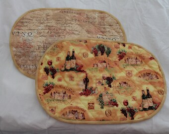 Wine Oval Placemat