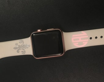 Apple Watch Decal - iWatch Decal - Small Monogram Decal