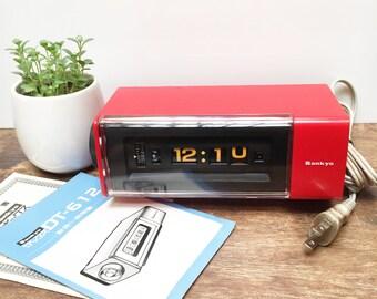 1970s (Old New Stock) Sankyo Rolling Revolving Digital Alarm Clock