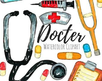 Doctor Clip Art - Medical Clip Art - Career Clip Art - Handrawn - Nurse Clip Art - Commercial Use