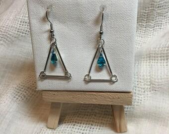 Earring blue medallion